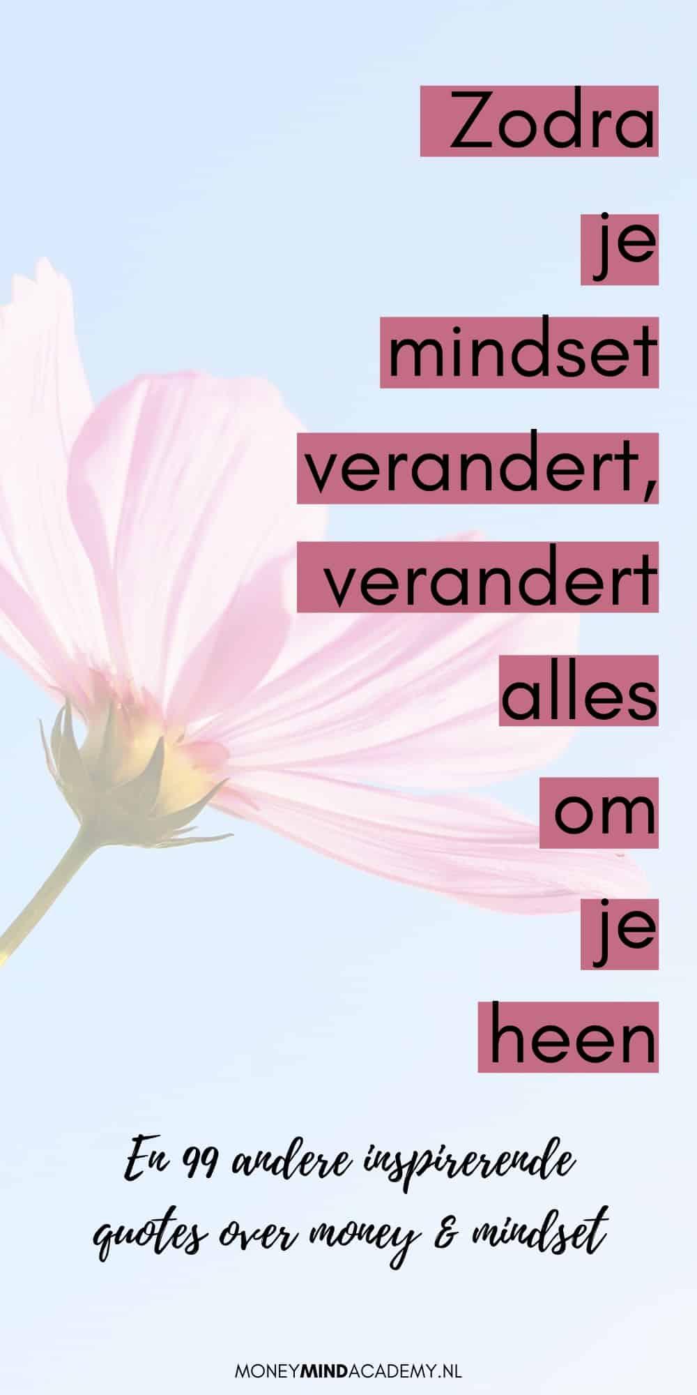 100 inspirerende money mindset quotes die je kunt gebruiken als affirmaties, als inspiratie of ter motivatie | MoneyMindAcademy.nl #mindset #moneymindset #geld #quotes #inspiratie #citaten
